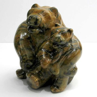 Mother & Cub Sitting - Jim Flaman