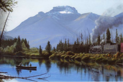 Mount Bourgeau From Bow River Max Jacquiard