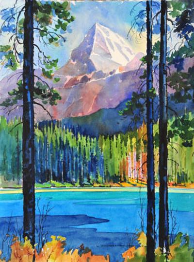 Mt Edith Cavell From Leach Lake Gregg Johnson
