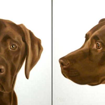 Mug Shot Chocolate Lab Gretta Gibney