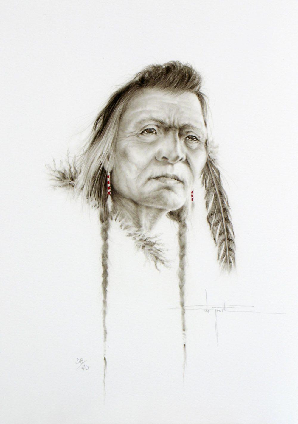 Native Study - Henri de Groot