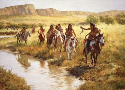 Nez Perce Scouts at Painted Robe Creek - 1877 - Howard Terpning