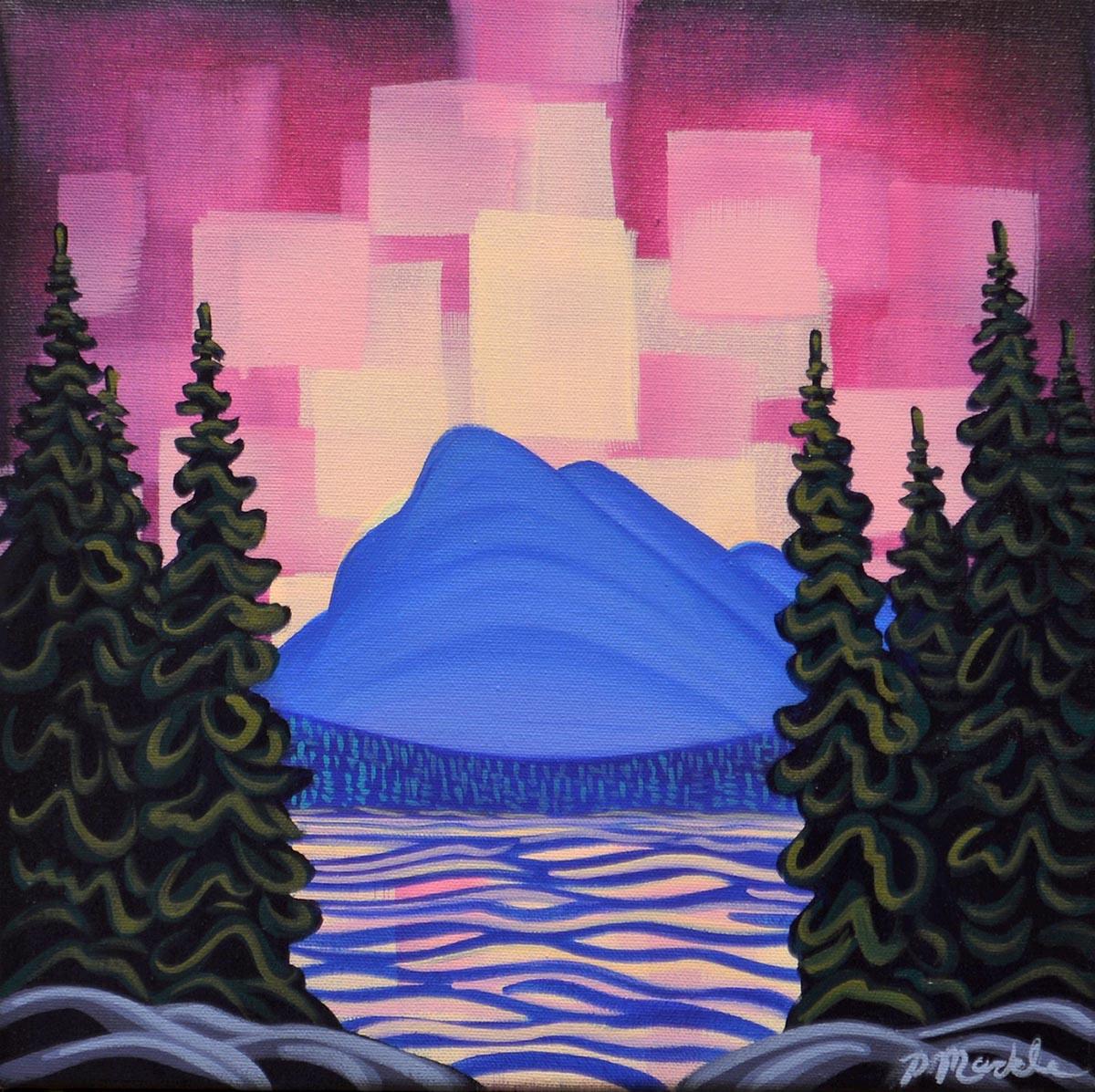 Northern Lights, Mt Rundle - Patrick Markle
