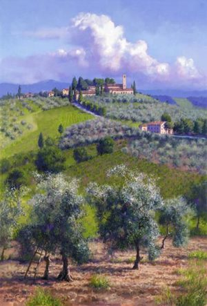 Oil Trees Of Chianti June Carey