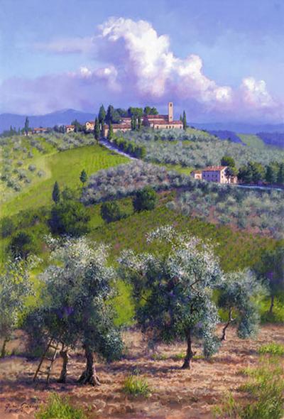 Oil Trees Of Chianti June Carey
