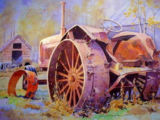 Old Tractor On Breadvers Farm Dapp Alberta Gregg Johnson