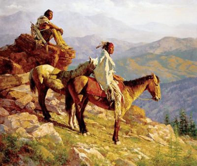 On the Edge of the World - Howard Terpning