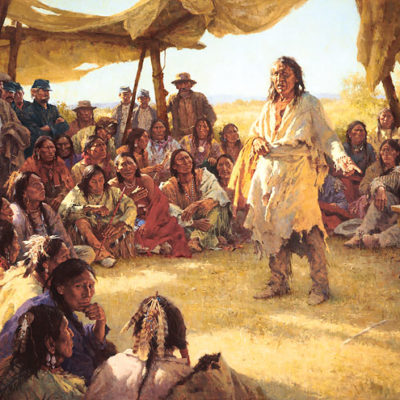 Paper That Talks Two Ways, The Treaty Signing Howard Terpning