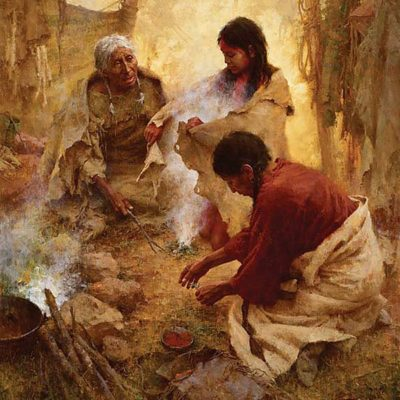 Passing Into Womanhood - Howard Terpning