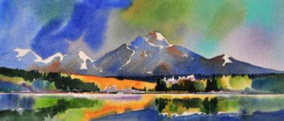 Patricia Lake Pyramid Mountain Gregg Johnson