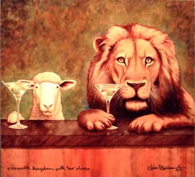 Peaceable Kingdom with Two Olives - Will Bullas