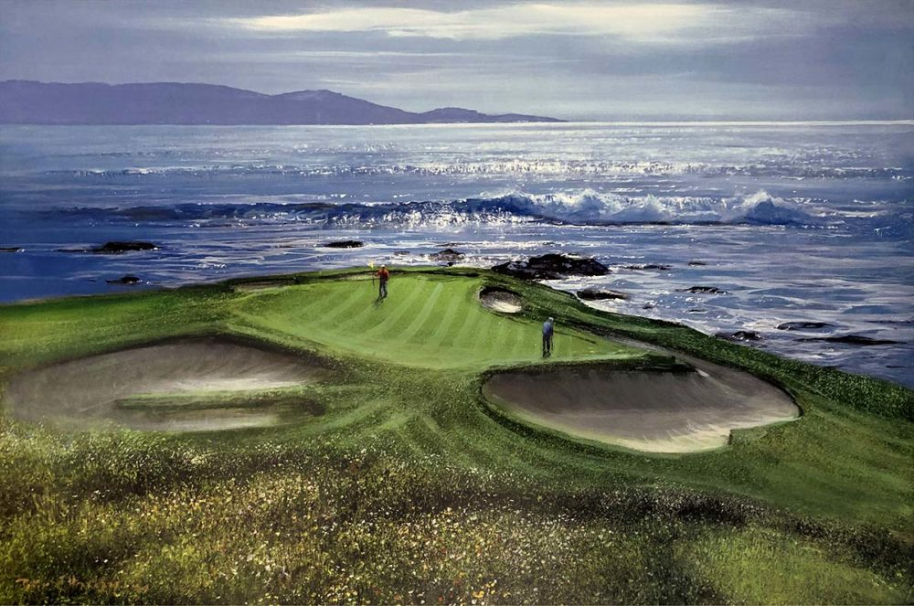 Pebble Beach 7th Hole - Peter Ellenshaw