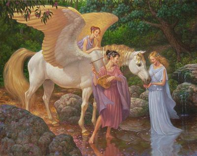 Pegasus And The Muses Scott Gustafson