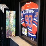 Picture Framing Example - Nugent-Hopkins Hockey Edmonton Oilers Jersey