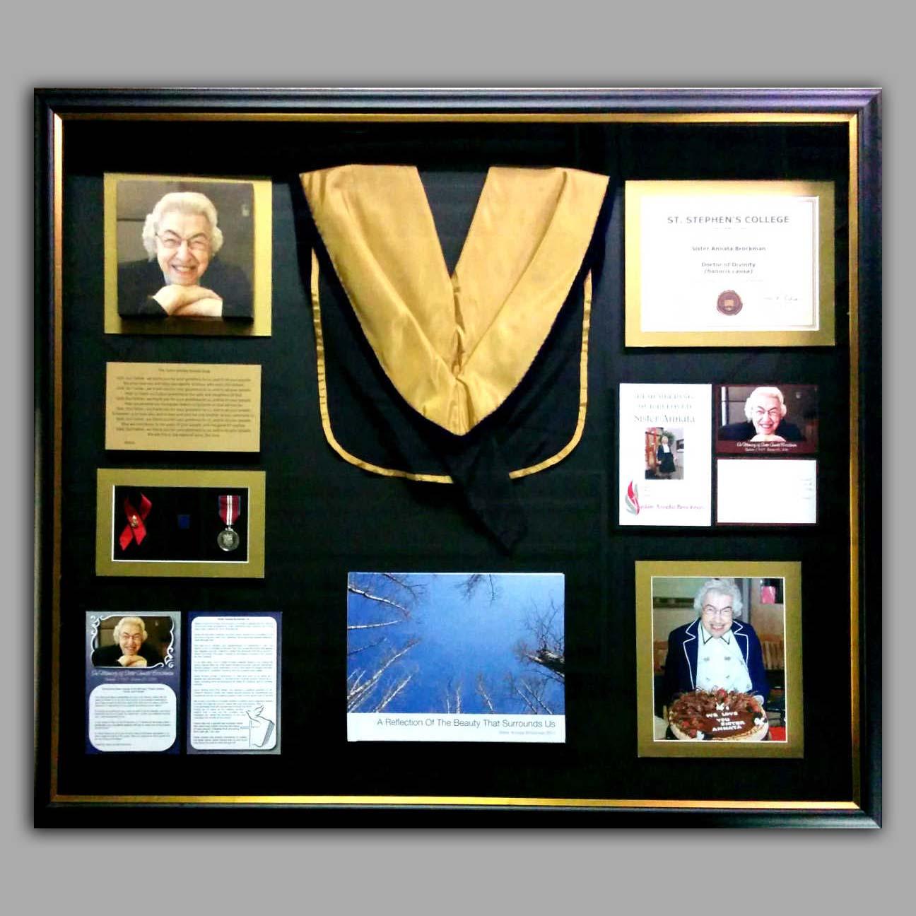 Picture Framing Example - Sister Annatta College