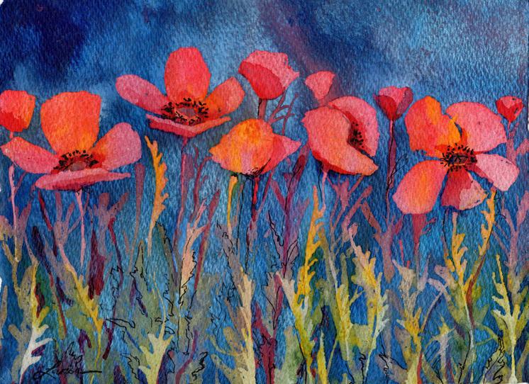 Poppy Blues Larisa Cheladyn