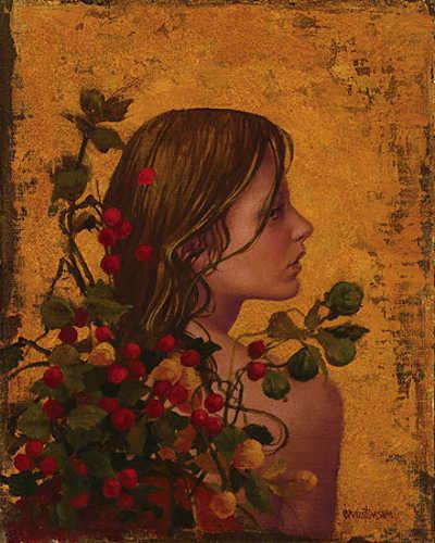 Portrait With Red Berries James Christensen