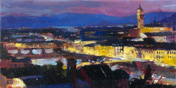Postcards from Around the World - Twilight in Florence - Michael Flohr