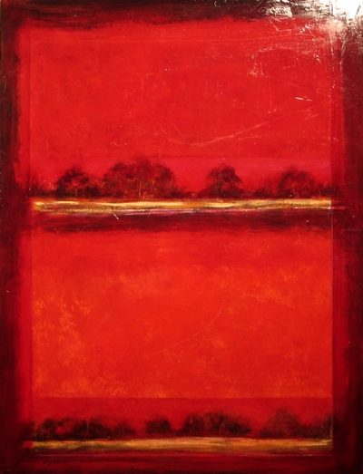 Red Abstract Fiona Hoop