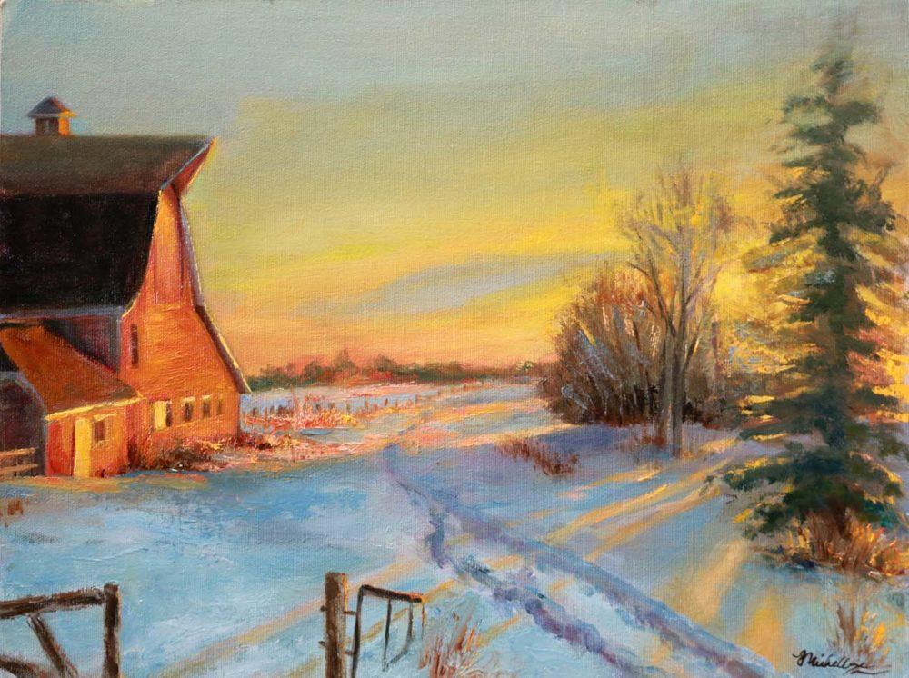Red Barn Sunrise - Michelle Murray