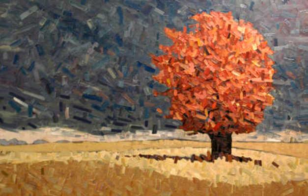 Red Tree Storm Sky 3 David Grieve