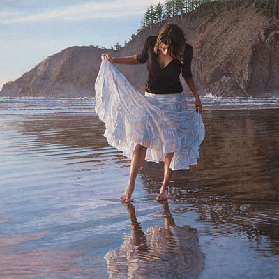 Reflecting On Indian Beach Steve Hanks