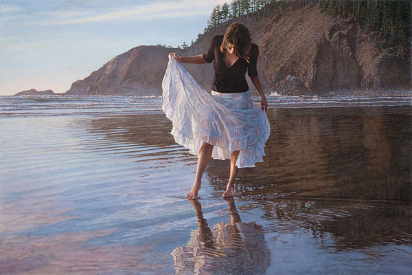 Reflecting On Indian Beach Steve Hanks