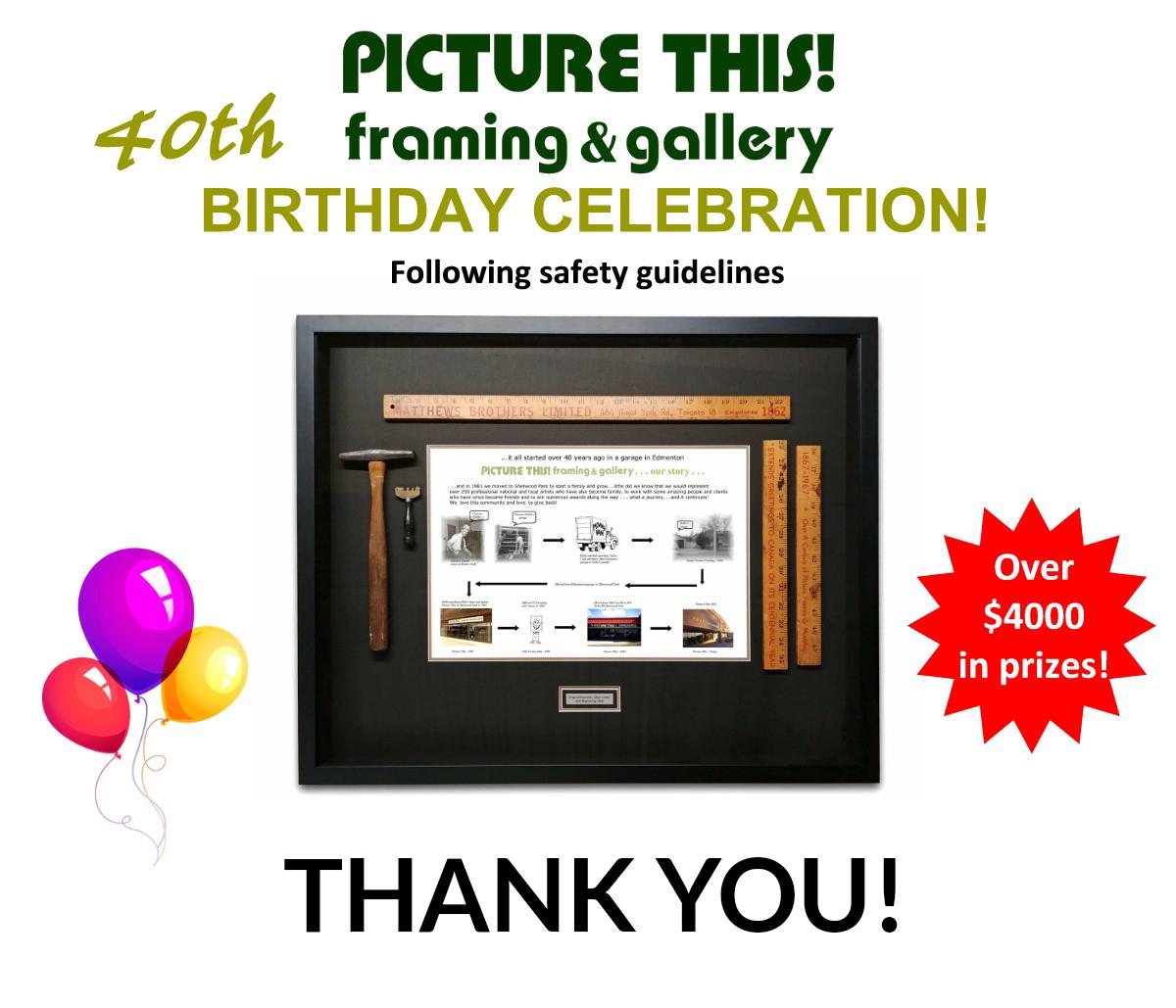 SP News Ad - 40th Birthday - Thank You