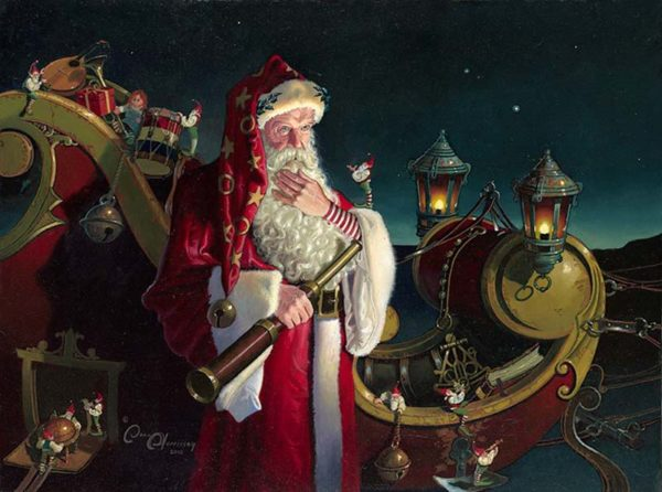 Santa - Packed and Ready - Dean Morrissey