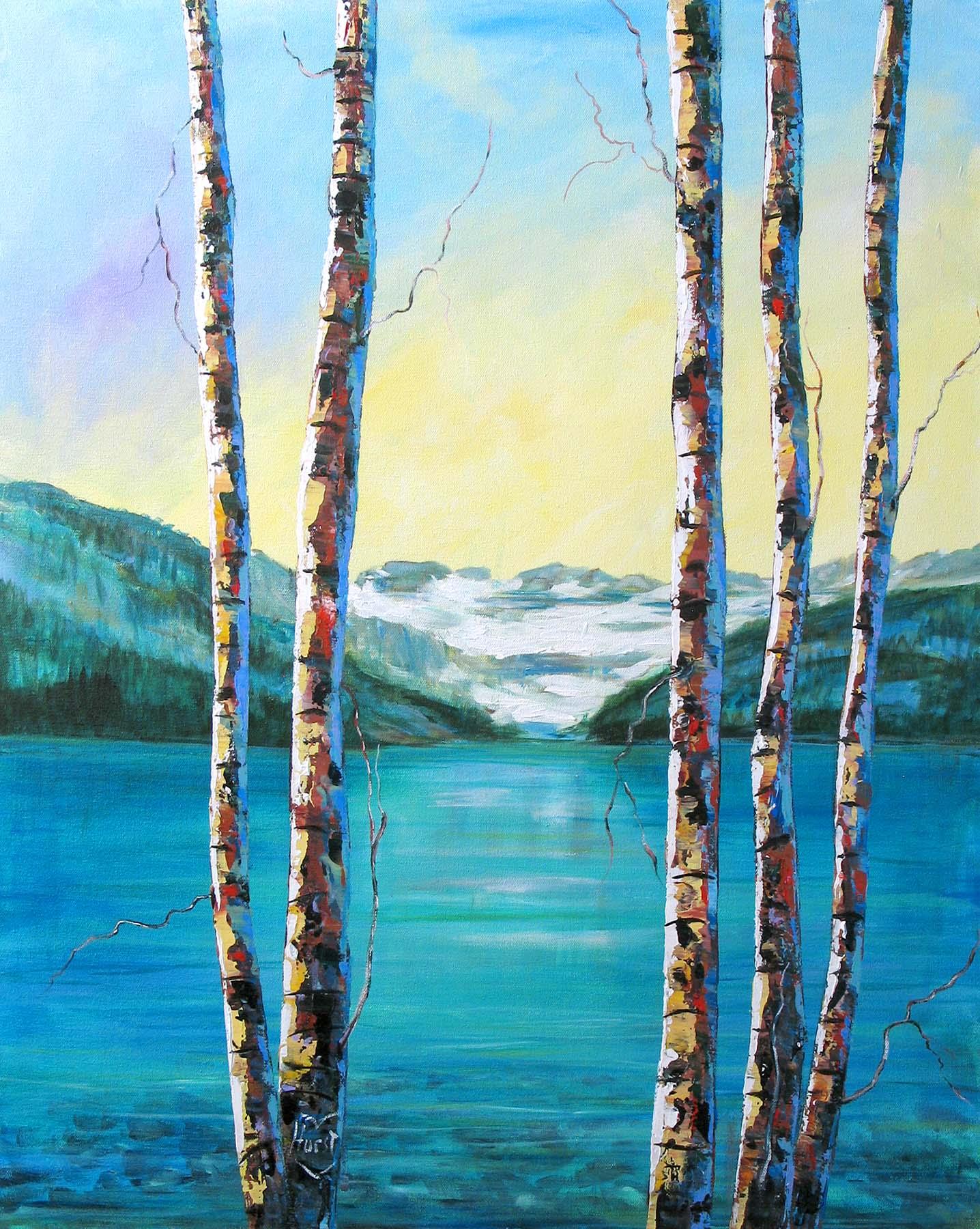 Sentinels at lake Louise - Marilyn Hurst