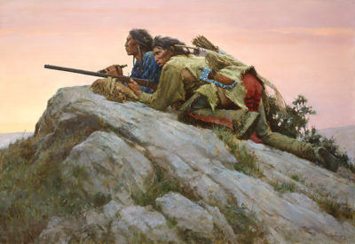 Sharpshooters Closing On The Herd Howard Terpning