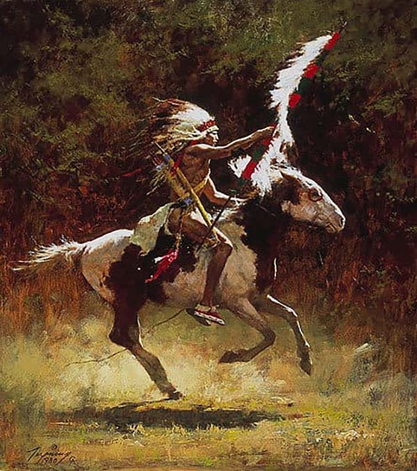 Sioux Flag Carrier - Howard Terpning