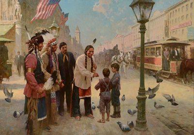 Sitting Bull's Kindness, Philadelphia, 1885 - Z. S. Liang