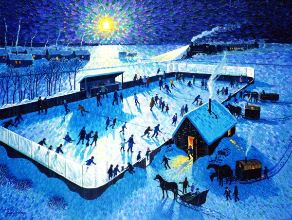 Skating Rink by Moonlight - Bill Brownridge