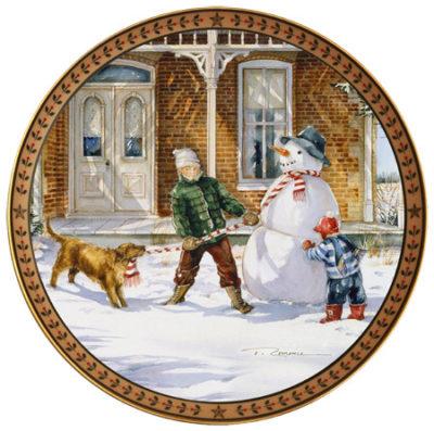 Snowman Collector Plate Trisha Romance