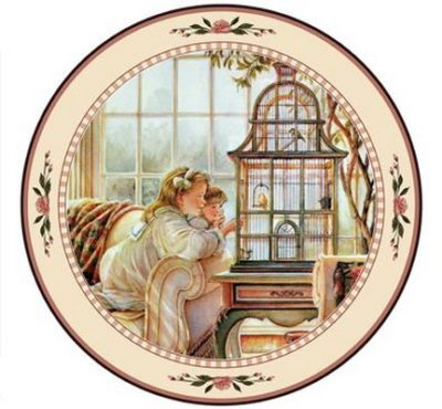 Song Birds Collector Plate Trisha Romance