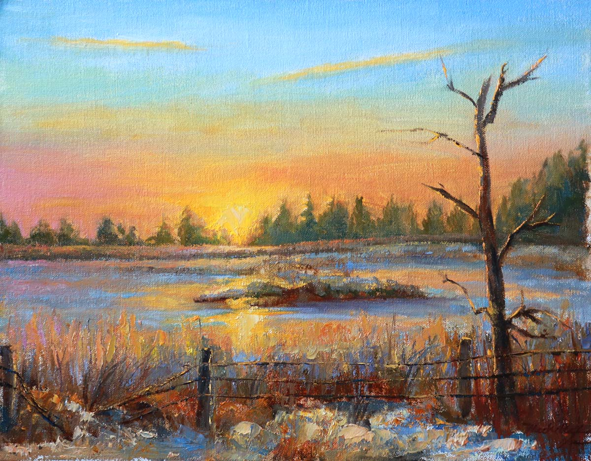 Spring Beginnings - Sunrise at Manning - Michelle Murray