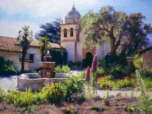 Springtime In Mission Garden June Carey