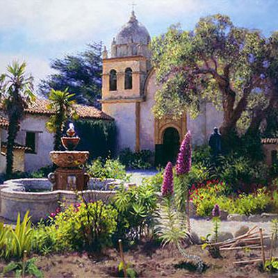 Springtime In Mission Garden June Carey
