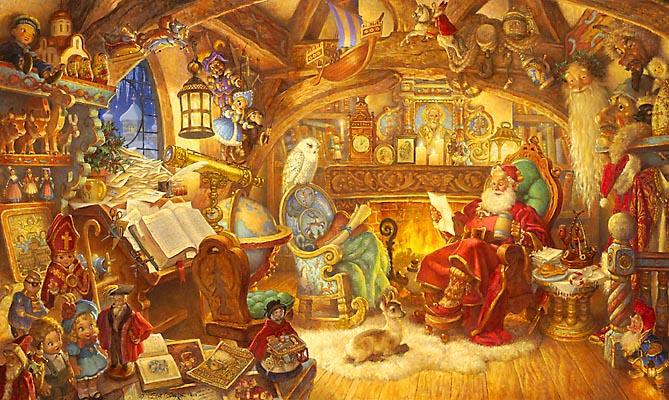 St. Nicholas In His Study Scott Gustafson