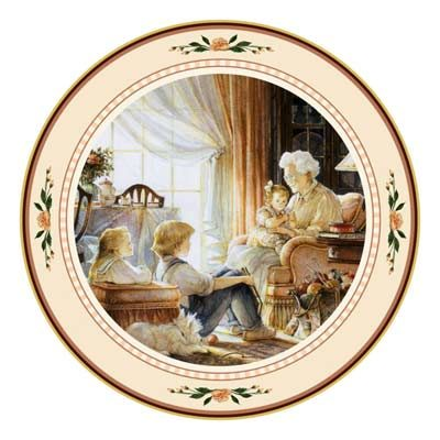 Storyteller Collector Plate Trisha Romance