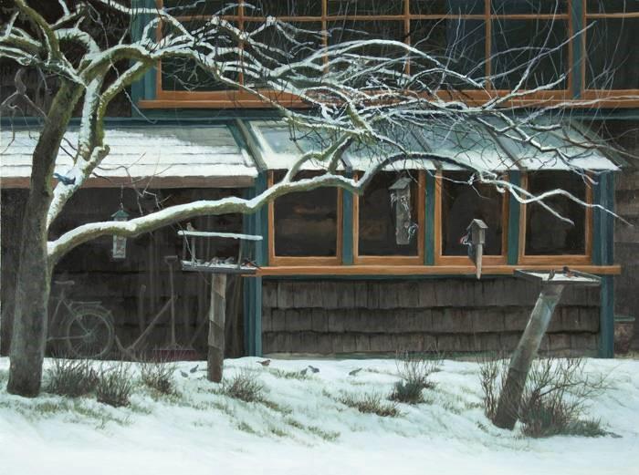 Studio & Birdfeeders - Robert Bateman