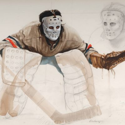Study For At The Crease - Ken Danby