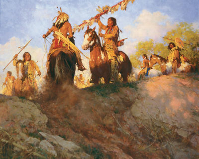 Sunset For The Comanche Howard Terpning.
