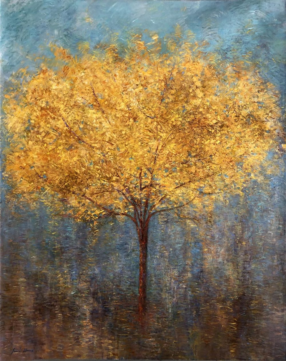 Sunshower Tree #4 - Fiona Hoop