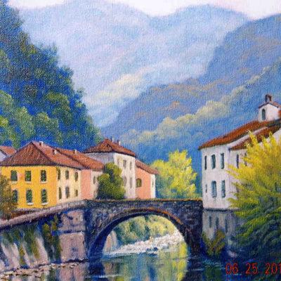 The Bridge At Bagni Di Lucca Charles White