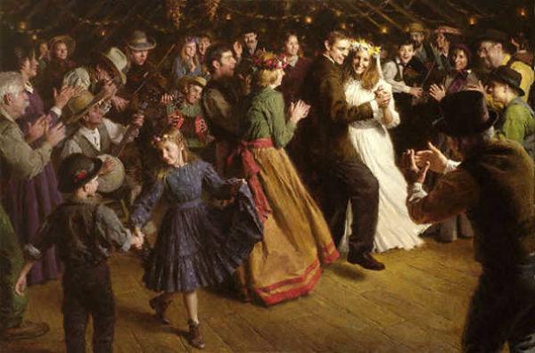 The First Dance, 1848 Americana Morgan Weistling