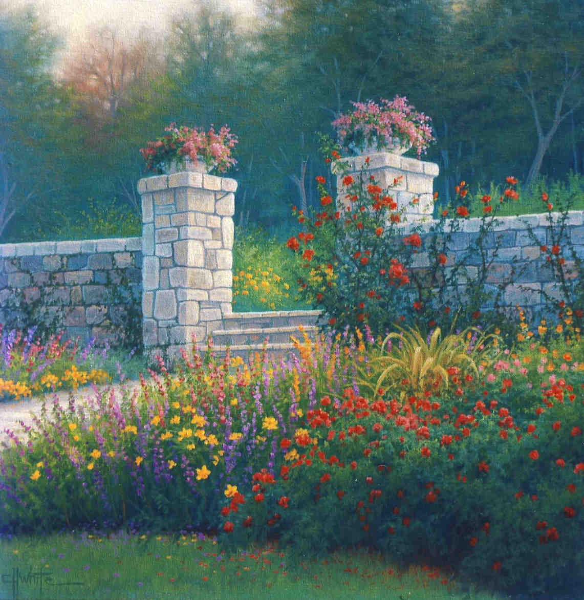 The Gates Of The Villa Charls White