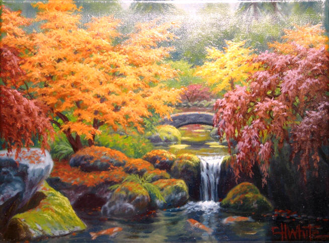 The Koi Pond - Charles White