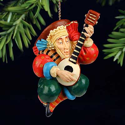 The Lute Player - Ornament - James Christensen
